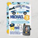 police cop policeman birthday party invitation