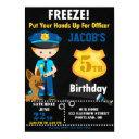 police officer birthday invitations boy cops party