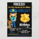 police officer birthday invitation cops party
