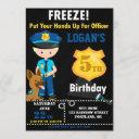police officer birthday invitation police invite