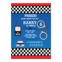 police officer birthday party detective invite
