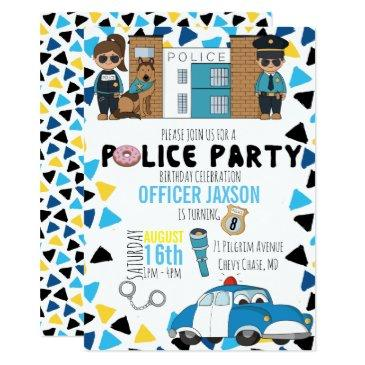 police themed party invitations