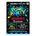 pool birthday invitation boy pool party invite