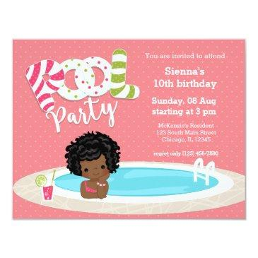 pool party * choose background color invitation