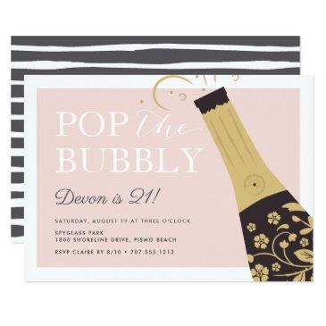 pop the bubbly | birthday party invitation