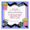 popcorn and a movie invitation