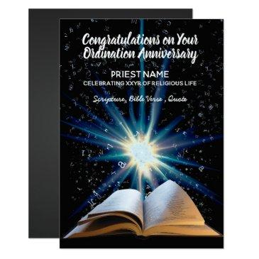 priest ordination anniversary - any years ordained invitation