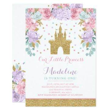 prince birthday invitations gold princess catle