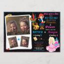 princess and pirate birthday invitation two theme