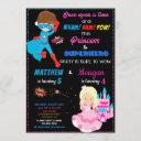 princess and superhero birthday invitation joint