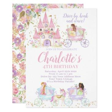 princess birthday parade invitation