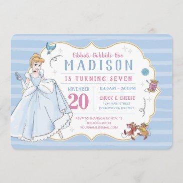 princess cinderella | watercolor birthday invitation