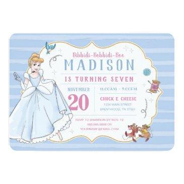 princess cinderella   watercolor birthday invitation
