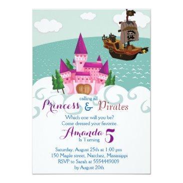 princess pirate invitation