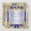 princess quinceanera gold royal blue silver 2 invitation