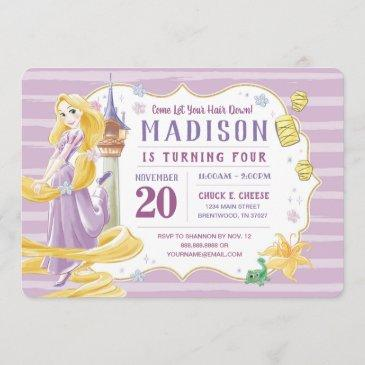 princess rapunzel   watercolor birthday invitation