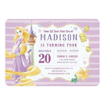 princess rapunzel | watercolor birthday invitation