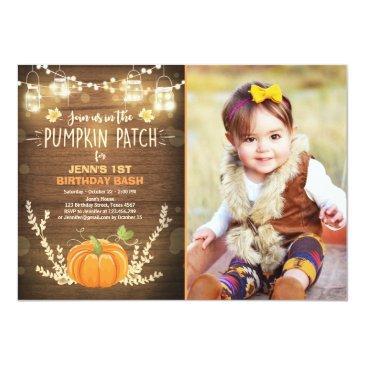 pumpkin birthday invitations patch autumn fall