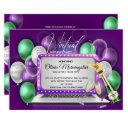 purple balloons laptop virtual birthday party invitation