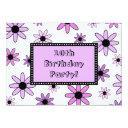 purple flower 10th birthday party invitations