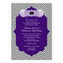 purple halloween sweet 16 ball costume party invitations