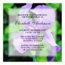 purple iris flowers 90th birthday party invitation