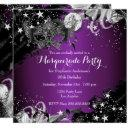 purple plum sparkle magical night masquerade party invitation