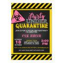 quarantine birthday invitation - girl