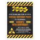 quarantine birthday invitation, kid humor funny invitation