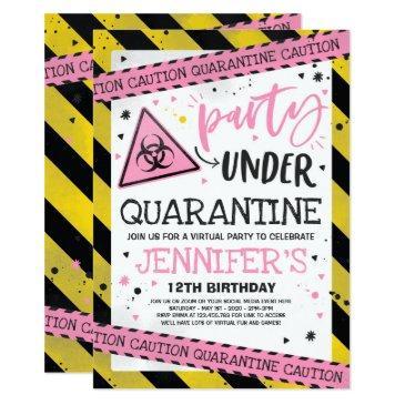 quarantine birthday party invitation virtual zoom