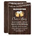 quarantine cheers and beers birthday invitation