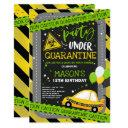 quarantine drive-by birthday party parade invitation