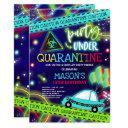 quarantine drive-by birthday party parade invitation