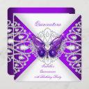 quinceanera 15th purple butterfly tiara party 2 invitation