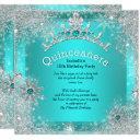 quinceanera 15th winter wonderland silver teal 3 invitation