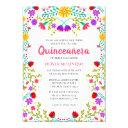 quinceanera mexican fiesta floral 15th birthday invitation