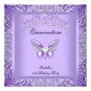 quinceanera purple butterfly 15th birthday party invitation