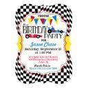 race car birthday party invitations