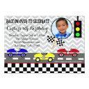 race car racecar boy birthday invitations