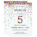 rainbow 5 year old birthday party, 5th birthday invitations