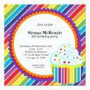 rainbow birthday invitations