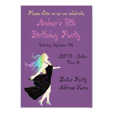 rainbow goddess birthday invitations