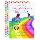 rainbow unicorn - 3x5 birthday invitations