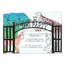 rainbow zoo party invitations