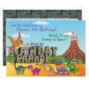 rawr dino driveby happy birthday parade invitation