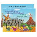 rawr dinodrive by happy birthday parade invitation
