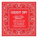 red bandana | birthday invite
