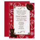 red bandana western cowboy birthday invitation