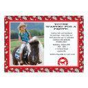 red cowboy bandana photo invitations