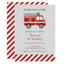red fire truck birthday invitation